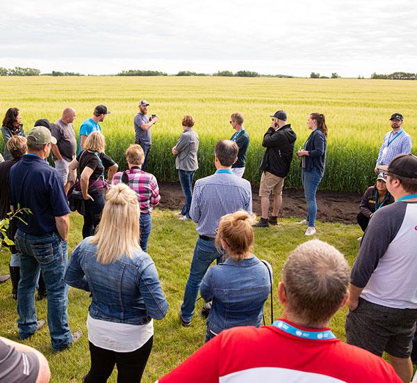 crop tour attendees